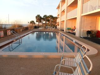 Indian Rocks Beach condo photo - Heated Pool on Beach , Ocean On Left