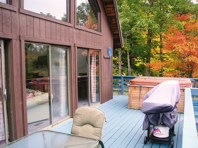 Our deck in the Fall