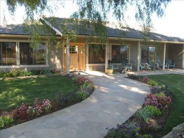Santa Ynez chateau / country house rental - Front of the home- Beautiful place for afternoon lounging overlooking vineyards.
