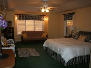 Auburn house photo - The Elegant Master Bedroom on the Second Floor with King Bed and Double Futon.