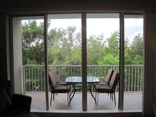 Ruskin townhome photo - Relax and dine on the terrace off the living room