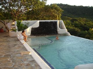 San Juan del Sur house photo - Waterfall cascades to the Infinity Pool..Peacefull