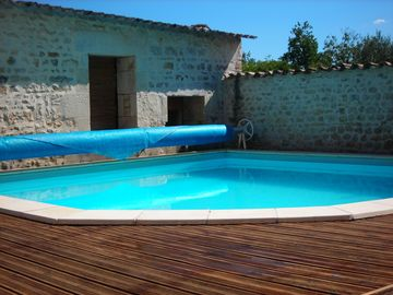 Swimming pool is 1.4m deep, 5m wide and 5.6m long
