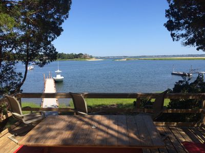 Waterfront hidden gem with dock and guest cottage overlooking Red Creek Harbor