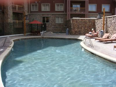 Outdoor Family Pool outside Suite 3800; deapth 3 feet, hot tub