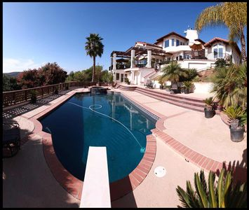 San Diego estate rental - Pool and jacuzzi with heating option