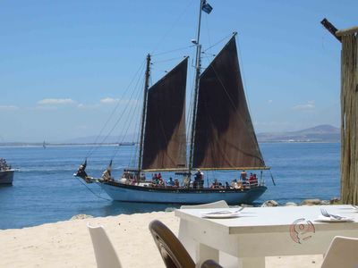 De Waterkant apartment rental - The Grand Restaurant and sail ship, near apartment