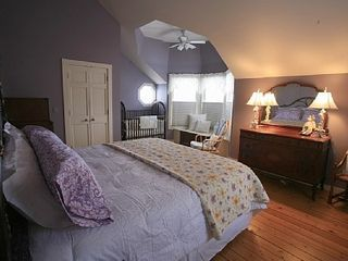 Delavan house photo - Large Guest Bedroom with Lake Views. King Size Bed