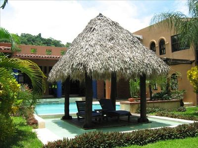 lounge in the palapa