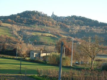 View of Todi from the Garden