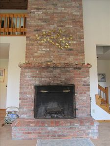 2 Story Brick Fireplace