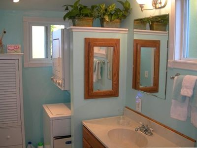 Bathroom has washer/dryer for your convenience!