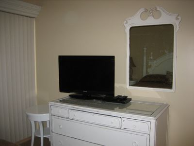 The bedrooms have 32 inch TV's with DVD players.