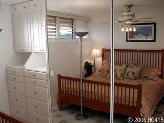 Lahaina condo photo - The Bedroom includes a California King Bed.