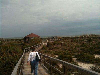 The private boardwalk to St. Augustine Beach