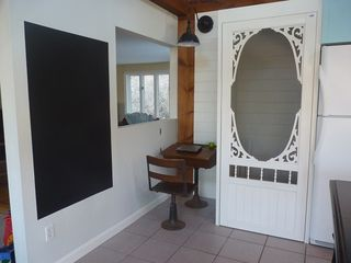 Ogunquit house photo - Antique school desk and chalkboard wall.
