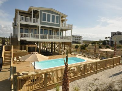 large oceanfront home in private estate  homeaway holden beach, oceanfront beach house rentals in north carolina, oceanfront beach houses for rent in north carolina, oceanfront vacation rentals in atlantic beach north carolina