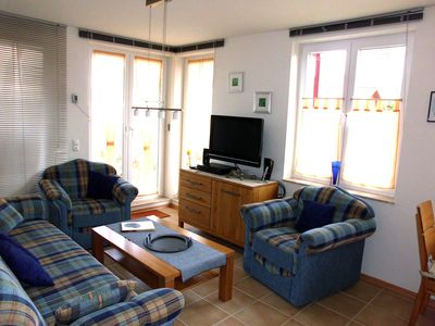 The high quality apartment with a terrace is located 100m from the beach