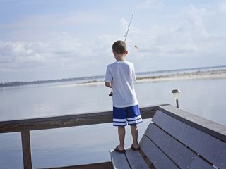 Navarre Beach condo photo - Precious Little Fisherman on a Perfect Fishing Day! Sunset Harbor 'The Palms'