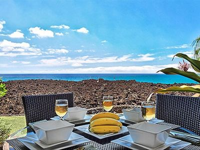 Alfresco dining on the lanai of our Hali'i Kai vacation home