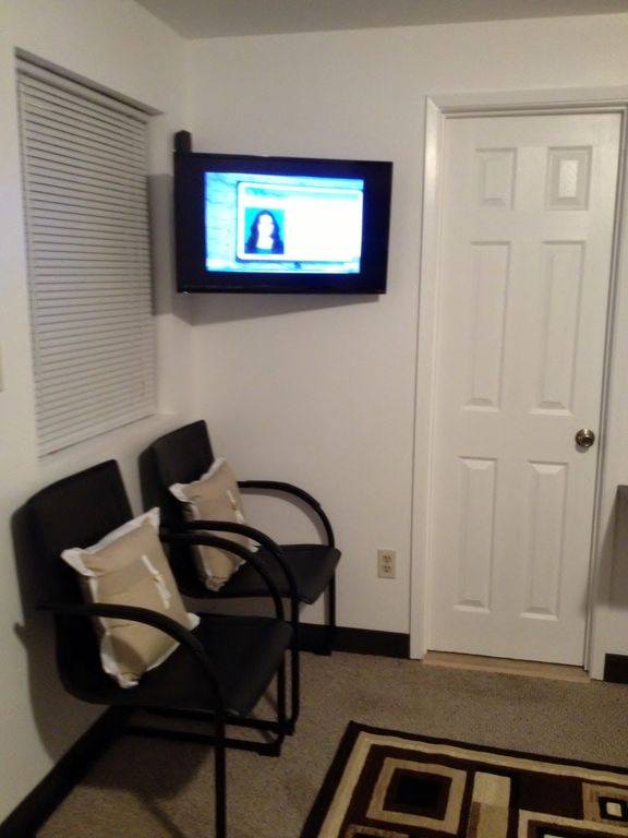 32 inch HDTV w/Wi-Fi, door shown is the Bathroom
