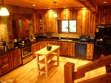 Large, Well-Equipped Kitchen Provides Space for Family Meals
