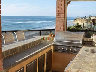Solana Beach house photo - Gas BBQ Grill with refrigerator and sink