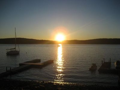 Lake Wallenpaupack house rental - Just another beautiful Sunset from our Picnic Area