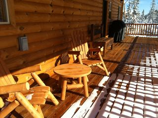 Brian Head cabin photo - Relax on the deck as you enjoy nature.