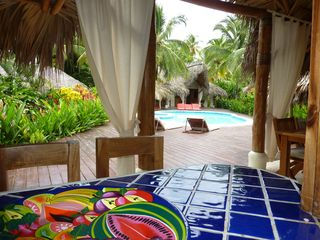 Las Terrenas villa photo - The view of one villa from the kitchen of the other