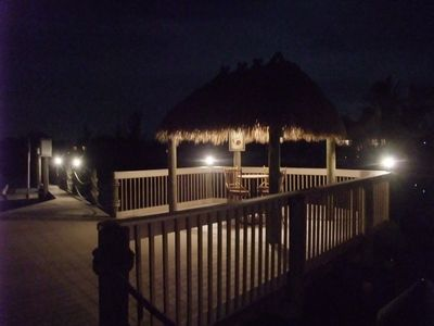 Cape Coral villa rental - Tiki Hut at Night
