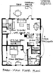 York Harbor barn photo - Main floor plan