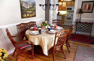 Dining area, great place to reminisce with friends and family over a nice meal