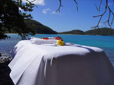 Why not have your next massage at A DREAM COME TRUE's private oceanfront lanai?