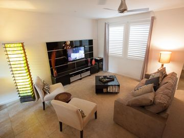 Orange townhome rental - 2nd story where you will find a balcony, kitchen, dining and living rooms