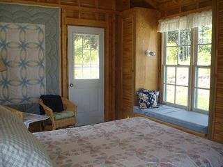 Baddeck house photo - Interior Guest Bedroom with Window Seat and View