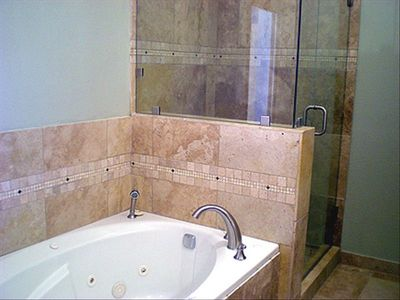 Master Bath - Jetted Tub & Rain Shower Head