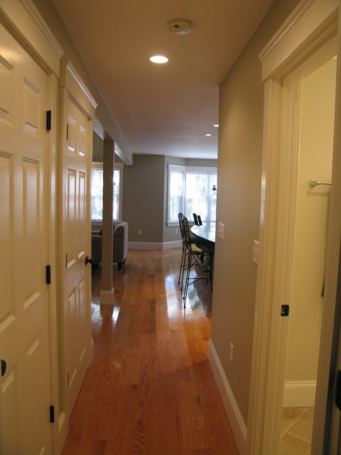 Hallway from master bedroom to kitchen/great room area