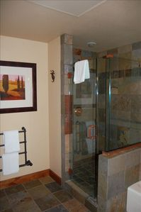 Bathroom #1 with heated towel racks