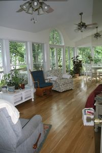 Hershey house rental - You'll never want to leave the sunroom!