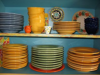 Healdsburg cottage photo - This colorful dinnerware collection makes even the simplist meal a celebration.