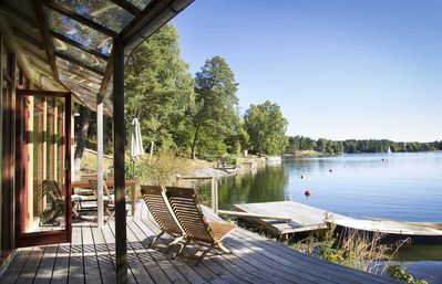 Private jetty by the sea, 18 km from downtown Stockholm