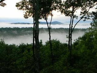 Morganton cabin photo - Morning Fog