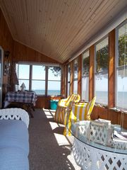 Port Sanilac cottage photo - New carpet and ceiling on sun room over looking the lake.