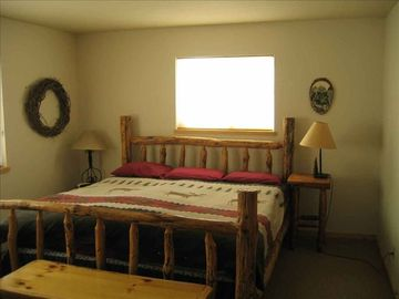 King log bed in large Master bedroom dowstairs