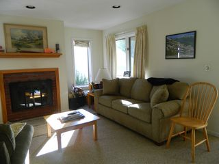 Carrabassett Valley condo photo - Living room with sofa pull out couch
