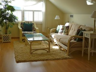 Slaughter Beach house photo - Spacious master bedroom sitting area - plenty of room for kids, air mattress