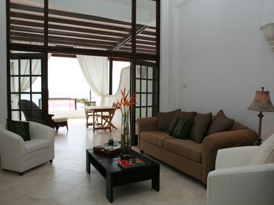 Silver Sands apartment rental - Living room two bedroom suite.