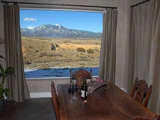 Taos house photo - Stunning Views of Taos Mountain from Dining
