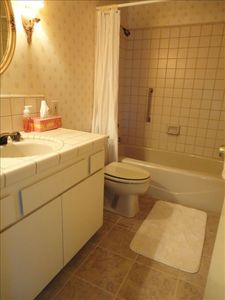 This is the small full bathroom.  There is a master bath and additional 1/2 bath